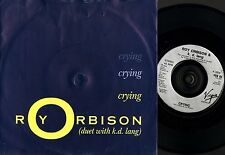 "ROY ORBISON AND K.D. LANG crying VUS 63 europe virgin 1992 7"" PS EX/VG"