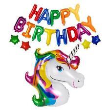Rainbow HAPPY BIRTHDAY Foil Letter Balloon Bundle (Pack of 18 Balloons)