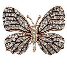 Beautiful Colourful Crystal Butterfly Brooch Arabic Retro Hijab Pins Wedding
