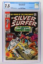Silver Surfer #9 - Marvel 1969 CGC 7.5 Mephisto Appearance.