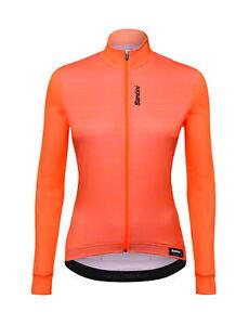 Women's Scia Long Sleeve Cycling Jersey in Orange by Santini
