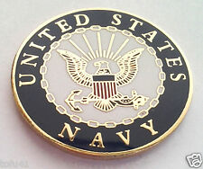 UNITED STATES NAVY LOGO D  Military Veteran Hat Pin P12721 EE