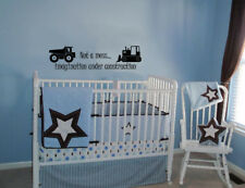 NOT A MESS UNDER CONSTRUCTION  WALL QUOTE DECAL VINYL WORDS STICKER TODDLER