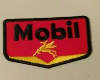 Mobil Oil & Gas Logo Embroidered 1.75 X 3In. Peggy Patch Collectible Advertising