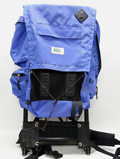 REI VINTAGE - 1987 - ALUMINUM EXTERNAL FRAME BACKPACK  - IN BLUE - LARGE - GUC