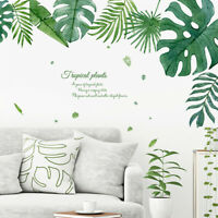 Tropical Monstera Leaf Self Adhesive Wall Sticker Decal Art Mural Nursery Decor