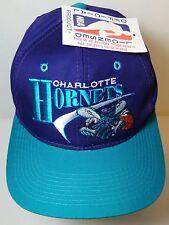 New VTG 1990s CHARLOTTE HORNETS NBA BASKETBALL Snapback Hat Cap DREW PEARSON