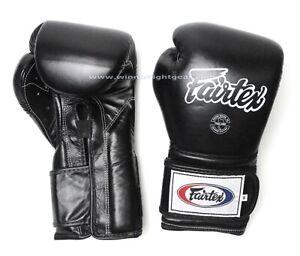 Fairtex Boxing Gloves Mexican Style BGV9 Black 10 oz  Express Delivery