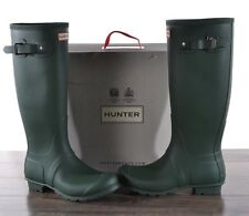Hunter Women's Green Matte Rubber Rain Boots Original Tall 7 MED WFT1000RMA