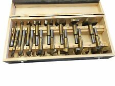NEW 16PC TITANIUM FORSTNER BIT SET W/CASE WOOD HOLE FORSTNER CLEAN CUTTING FREE