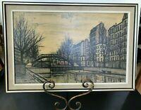 Mid Century Modern Bernard Buffet St Martins Canal 1956 French Lithograph Signed