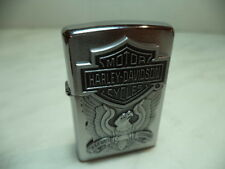 ZIPPO LIGHTER FEUERZEUG HARLEY DAVIDSON HD 284 EAGLE LOGO EMBLEM VERY RARE  NEW