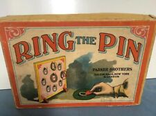 """ANTIQUE PARKER BROTHERS GAME """"RING THE PIN"""" COMPLETE IN BOX WITH INSTRUCTIONS"""