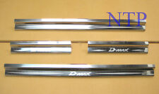 4 Door sill Stainless steel scuff plate For Isuzu Dmax D-max Rodeo 2002 - 2011