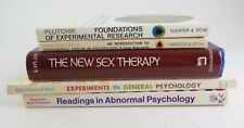 Lot 5 Experimental Abnormal Psychology Sex Therapy Books-1960-70s -Harper's etc