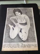 67-2 Ephemera 1974 Picture Marie Leeks Winter Gardens Margate Actress Dancer