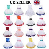 UK Girls Party Dress Flower Wedding Bridesmaid Dress Baby Pageant Formal Dress