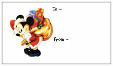 10 Choice of MICKEY - MINNIE or PLUTO GARFIELD Christmas 14pt Gift Tags