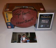 PACKERS Brett Favre signed Super Bowl XXXI football w/ SB XXXI Champs COA AUTO