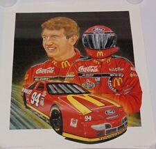 1995 BILL ELLIOTT SAM BASS SIGNED AUTOGRAPHED NASCAR POSTER PRINT COA MCDONALDS