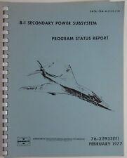 USAF B-1 Bomber SAC Program Cold War Defense Contractor Garrett Power Plant 1977