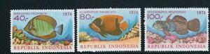 INDONESIA 1974 TROPICAL FISH (Scott 926-8) VF MNH