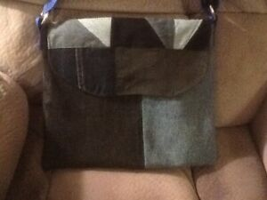 Denim Patchwork Crossbody Bag