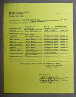 George Pfister New York Yankees Farm Director Signed 1973 Training Schedule