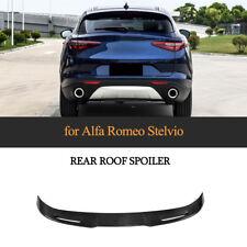 For Alfa Romeo Stelvio 2017-2018 Rear Roof Spoiler Wing Carbon Fiber Refit