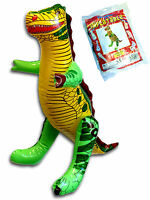 INFLATABLE  BLOW UP DINOSAUR BOYS GIRLS TOY BIRTHDAY PRESENT PARTY BAG FILLER