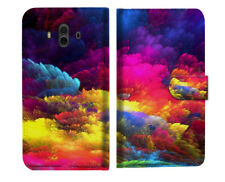 Colorful Cloud Wallet Case Cover For Huawei Mate 10 - A021