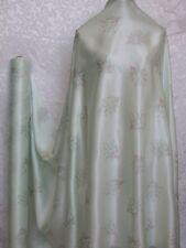 100% Silk Charmeuse Fabric Delight Flower Per Yard
