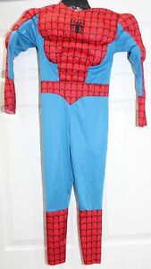 Marvel Avengers End Game Spider-Man Muscle Jumpsuit Costume Youth Boys Small 5/6