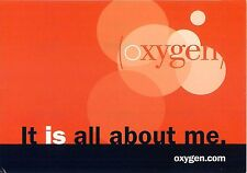 Give Me Oxygen Awareness Orange and Black Advertisement Postcard 6x4""
