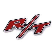 RT R/T Logo For Dodge Ram/Charger Head Fro Grille Emblem Clip Badge 3D Metal R