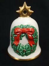 1986 Goebel Hummel Annual Christmas Bell Ornament Wreath ~ Germany