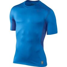 Nike Pro Combat Men's HyperCool 2.0 Fitted Short Sleeve Top  Blue Royal New