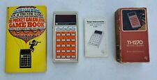 Vintage Texas Instruments TI-1270 Electronic Calculator With Game Book