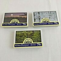 Playing Cards Forest Sunset Woods Snow Designer Series 3 Deck Lot 852958
