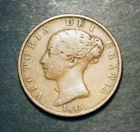 1845 Victoria Half Penny