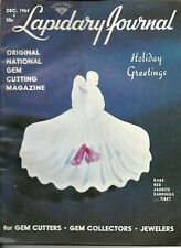 New listing Vintage Lapidary Journal December 1964 - Gem Cutting, Jewelers, Collectors