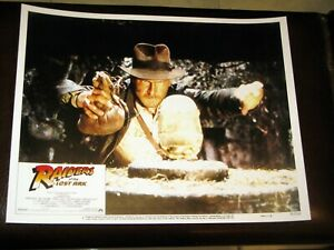 """Reprinted USA Lobby Card Set of 8 11"""" x 14"""" Raiders of the Lost Ark"""" 1981 Issue!"""
