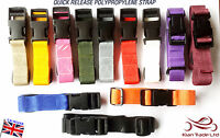 """25mm Adjustable  Webbing Belt (1"""") any colour Quick Release golf troly strap"""
