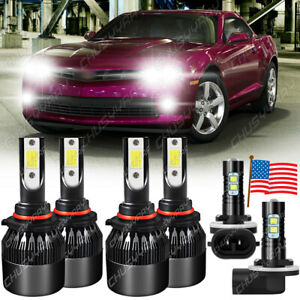 For Chevy Camaro 1998 1999-2002 9005 9006 881 6×LED Headlights+Fog Lights Bulbs