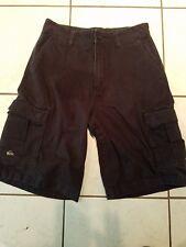 Quiksilver Cargo Shorts Boy's Waist 28 Size 16 100% Cotton Black Exc Cond