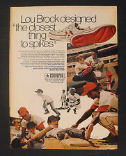 1971 Lou Brock Cardinals Baseball Tennis Converse Shoes Sneakers Memorabilia AD