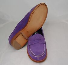 WOMEN PENNY LOAFER - 35 - DAMSON SUEDE - FULL LINING - LEATHER SOLE/BLAKE