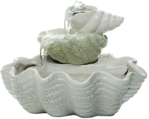 Foreside Home and Garden Tiered Shell Indoor Water Fountain