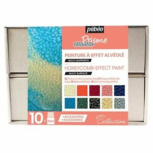 Pebeo Fantasy Prisme Paint Collection Set 10 x 45ml & Accessories