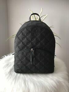 New Kate Spade karissa nylon quilted large backpack black college travel $329